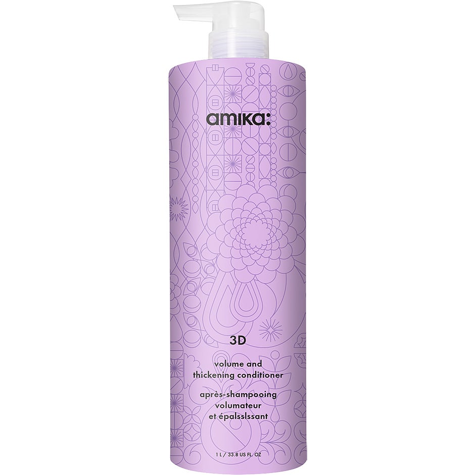 3D Volumizing and Thickening Conditioner, 1000 ml Amika Conditioner - Balsam