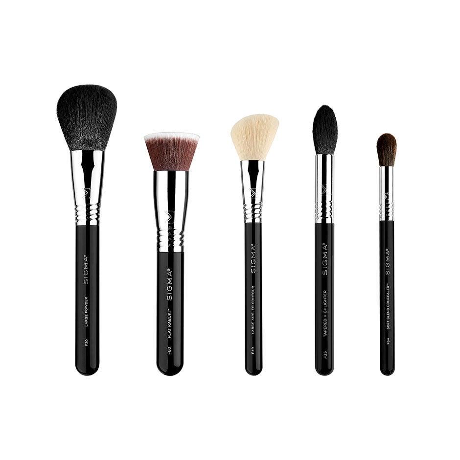 Classic Face Brush Set,  Sigma Beauty Borstar & Penslar
