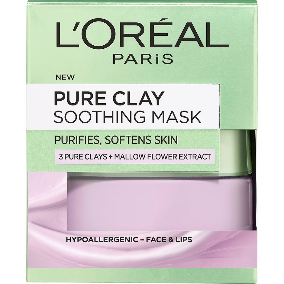 Pure Clay Soothing Mask, 50 ml L'Oréal Paris Ansiktsmask
