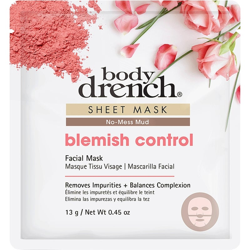 Body Drench Blemish Control No-Mess Mud Sheet Mask