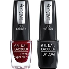Gel Nail Lacquer + Top Coat