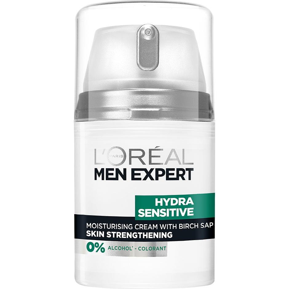 Köp Men Expert Hydra Sensitive, 24H Moisturising Cream 50 ml L'Oréal Paris Dagkräm fraktfritt