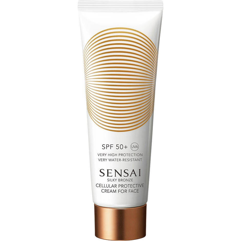 Silky Bronze Cellular Protective Cream For Face Spf50+,  Sensai Solskydd