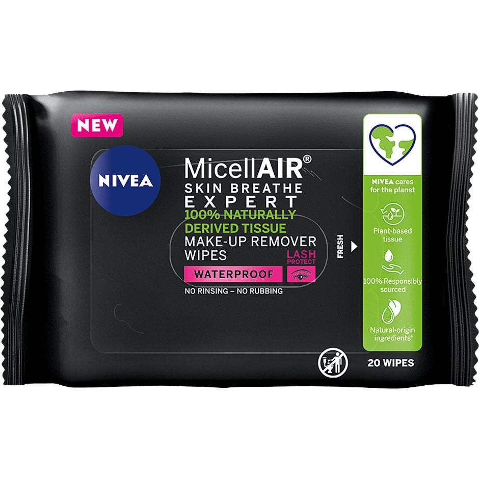 MicellAIR Expert Make-up Remover Wipes,  Nivea Sminkborttagning