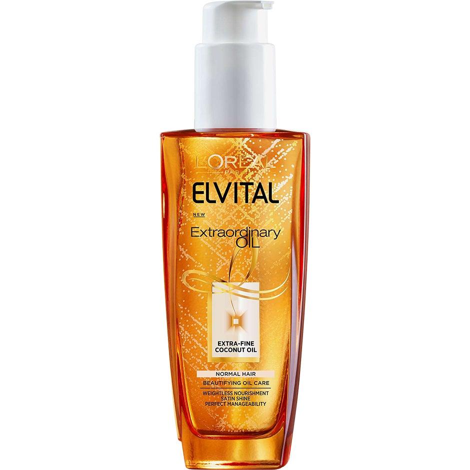 Köp Elvital Extraordinary Oil Coconut Oil,  100 ml L'Oréal Paris Serum & hårolja fraktfritt
