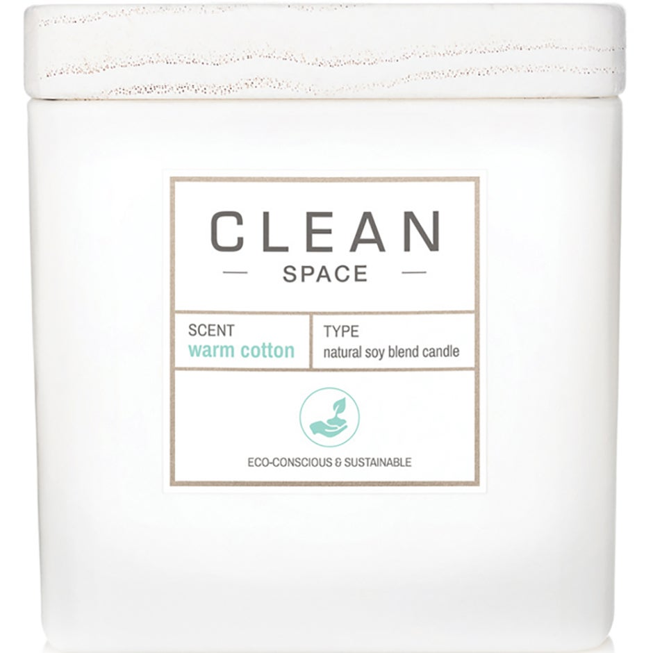 Space Warm Cotton Candle, 227 ml Clean Doftljus