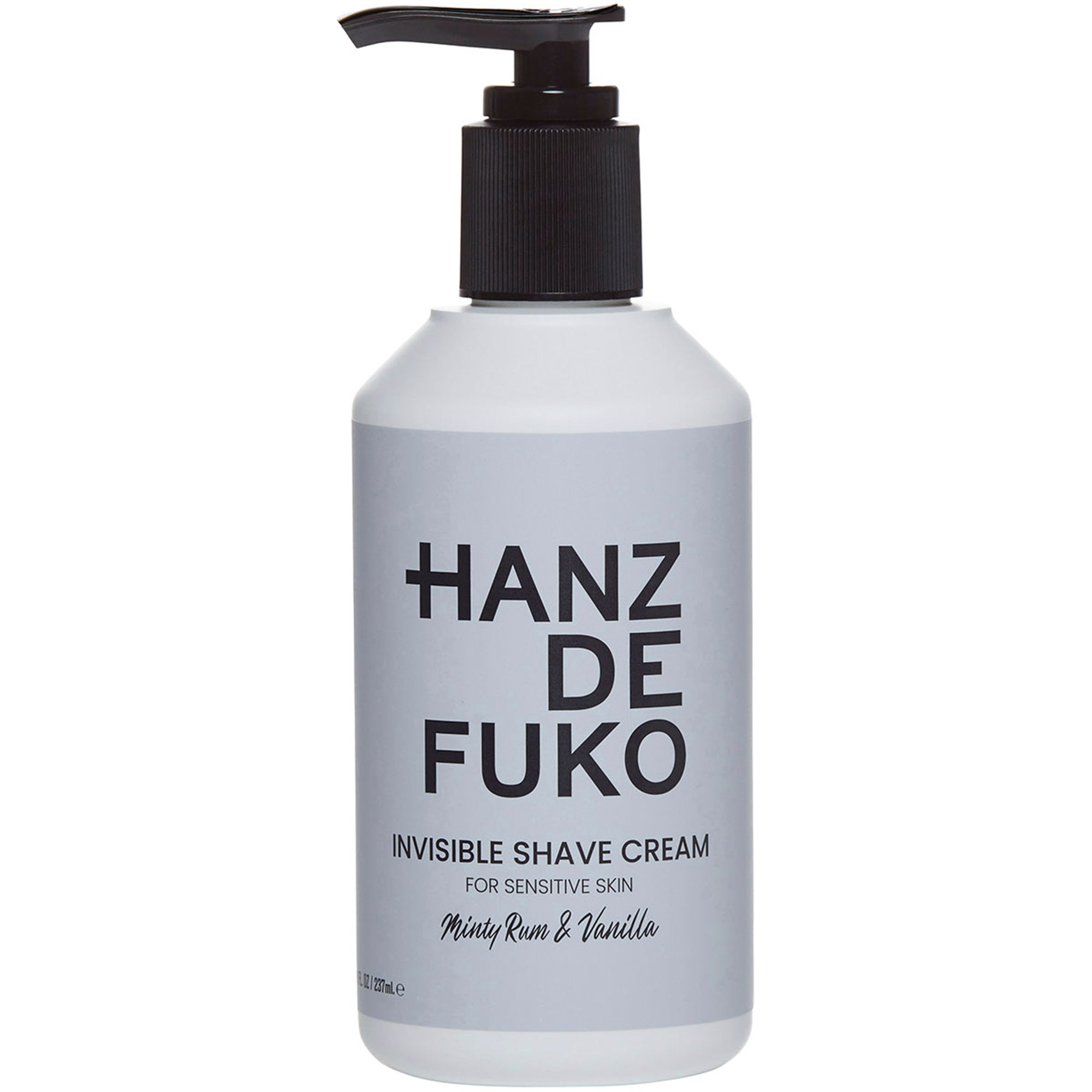 Hanz de Fuko Invisible Shave Cream, 237 ml Hanz de Fuko Rakgel