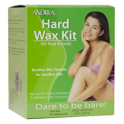 Brazilian Hard Wax Kit for Face & Body, Andrea Hårborttagningsvax & Brazilian wax