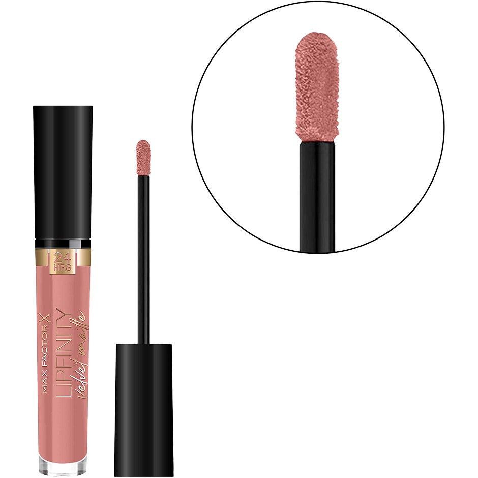 Köp Lipfinity Velvet Matte Lipstick, 15 Nude Silk 4 ml Max Factor Läppstift fraktfritt