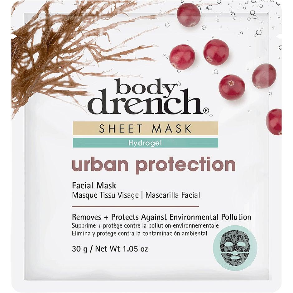Urban Protection Sheet Mask Black Lace Hydrogel, 30 g Body Drench Ansiktsmask