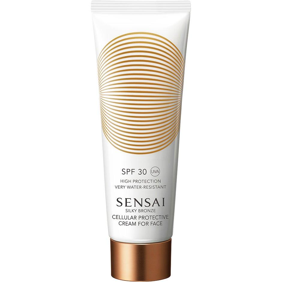Silky Bronze Cellular Protective Cream For Face Spf30,  Sensai Solskydd