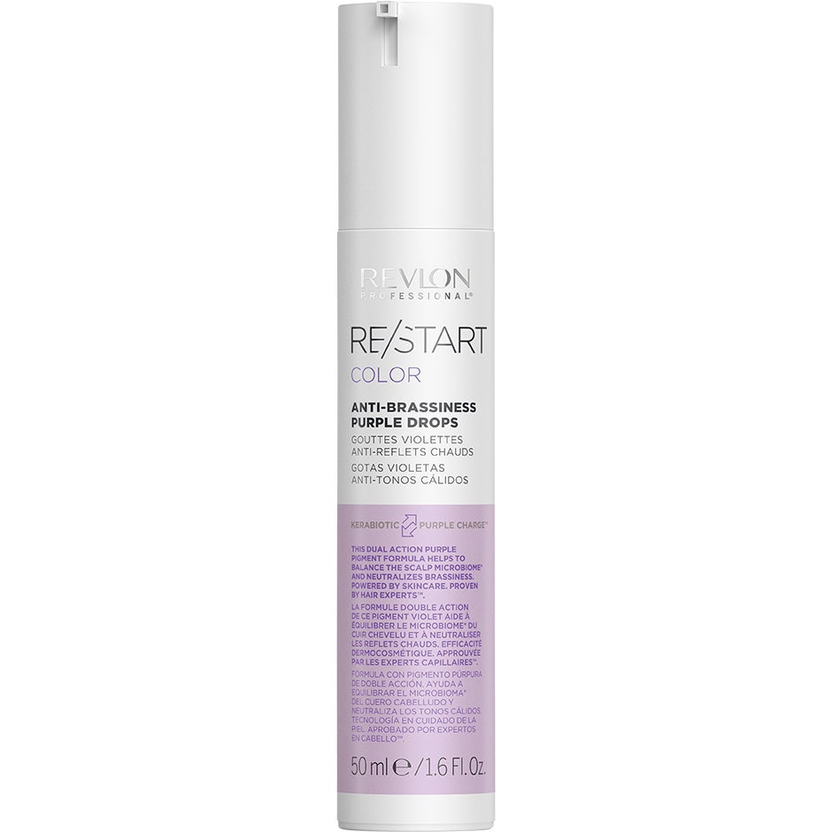 Restart Color Anti-Brasiness Purple Drops, 50 ml Revlon Professional Hårserum & Hårolja
