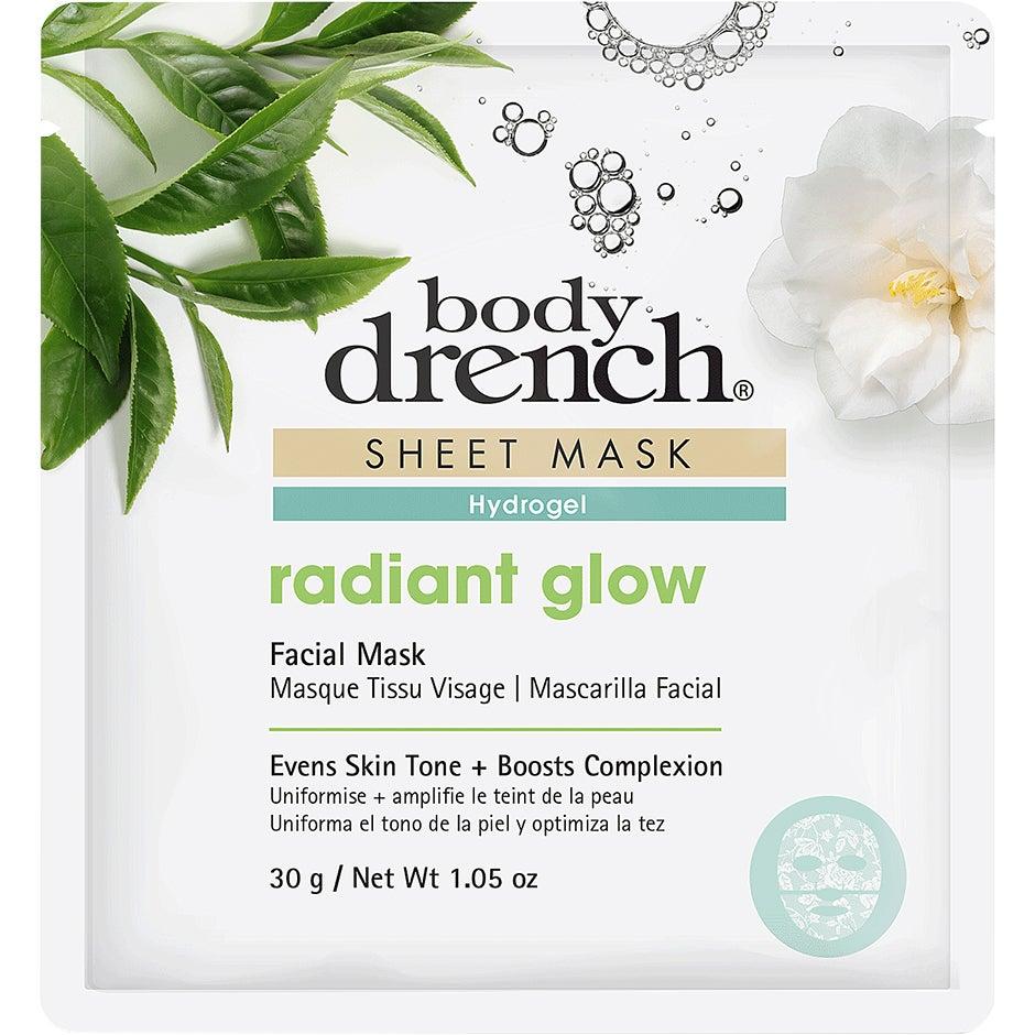 Sheet Mask Radiant Glow White Lace Hydrogel, 30 g Body Drench Ansiktsmask