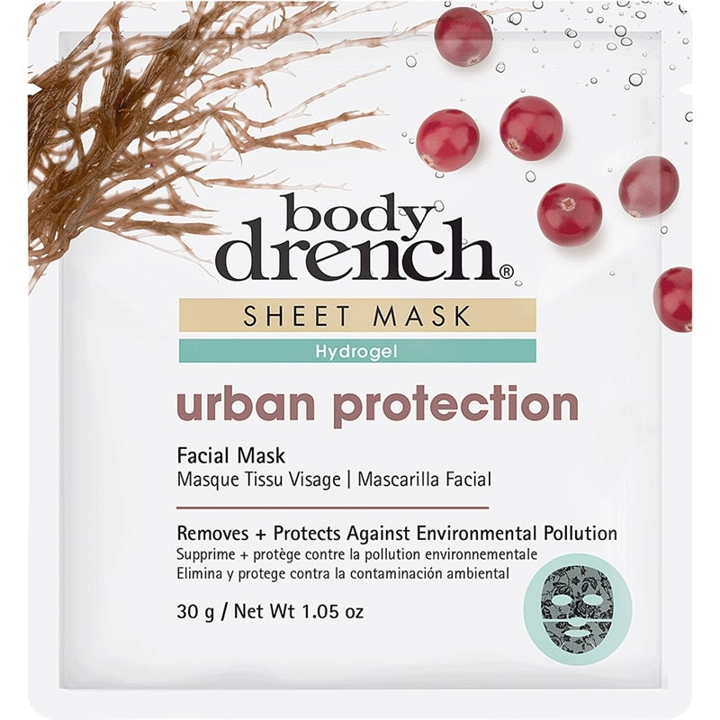 Urban Protection Sheet Mask Black Lace Hydrogel