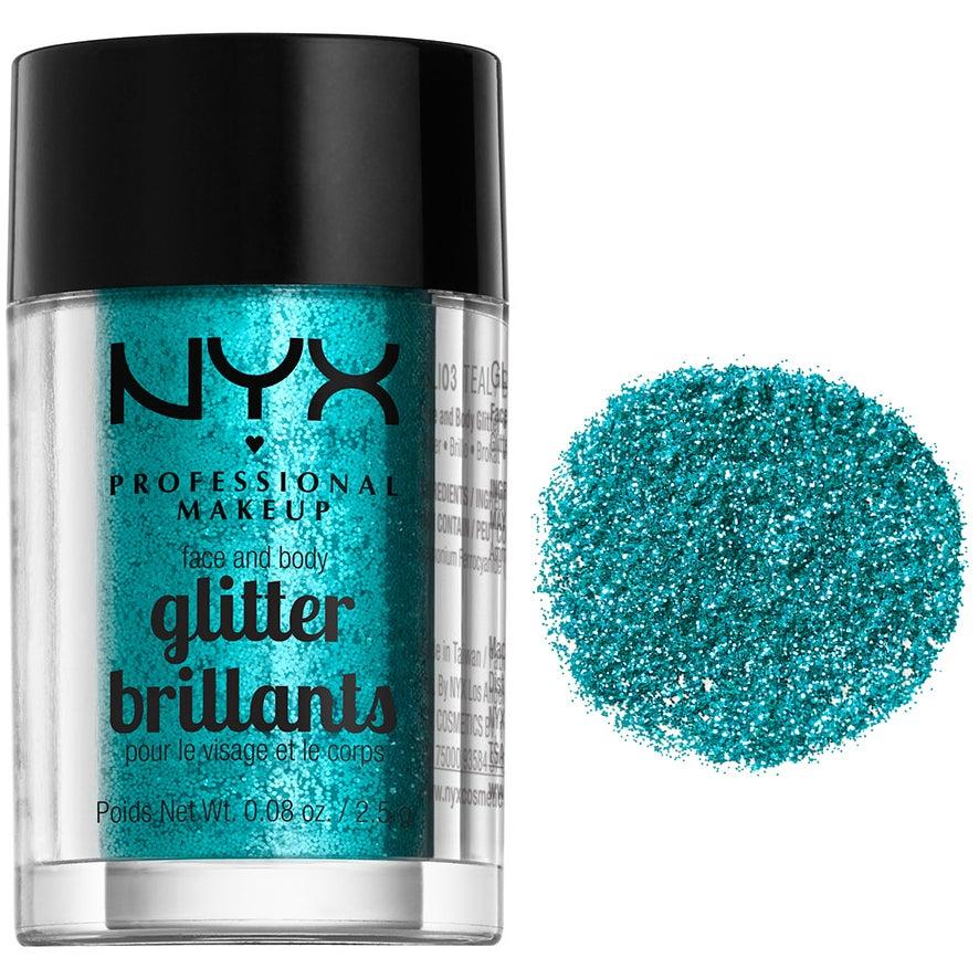 Face & Body Glitter, TEAL NYX Professional Makeup Ögonskugga