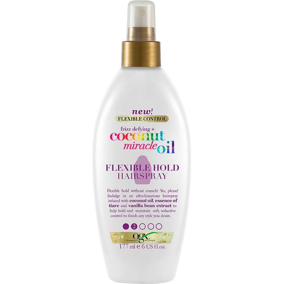 Coconut Miracle Oil Flexible Hold Hair Spray, 177 ml OGX Hårspray