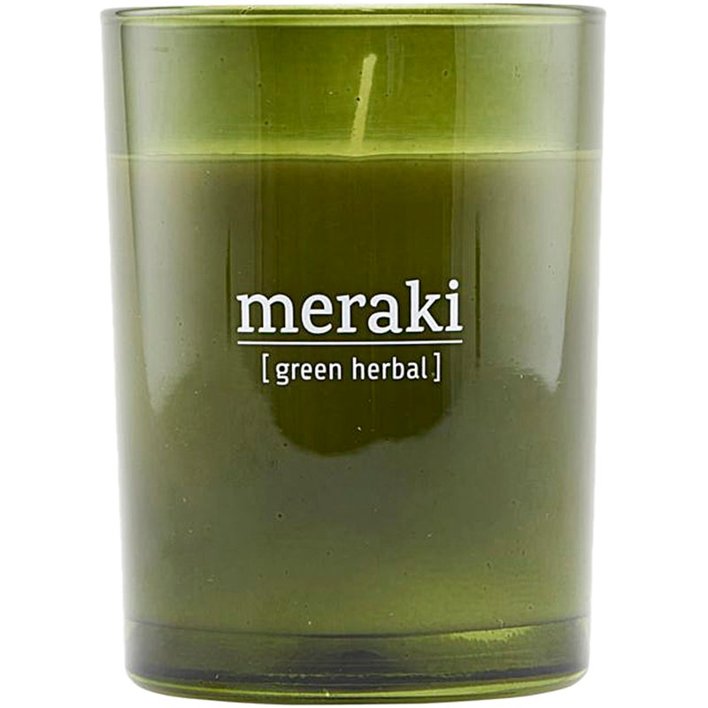 Meraki Green Herbal Scented Candle