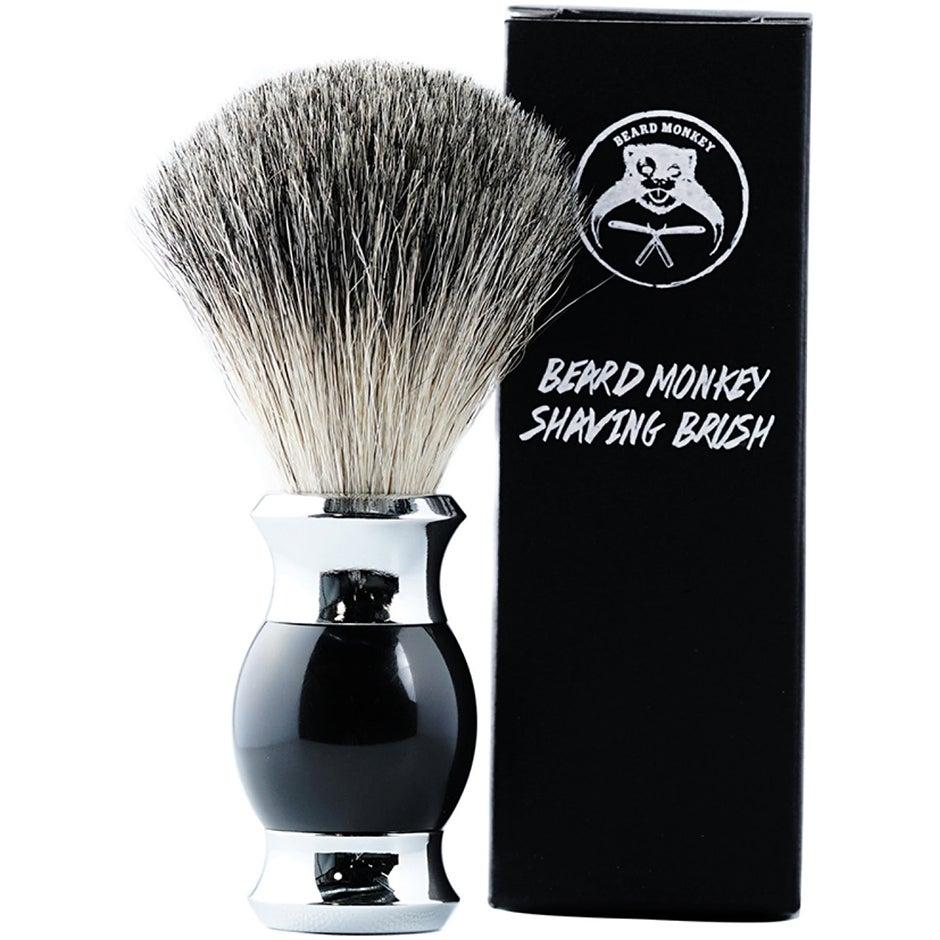Beard Monkey Shaving Brush, Beard Monkey Rakhyvel & Rakblad