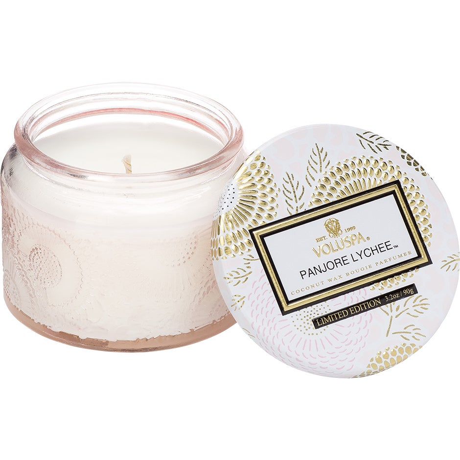 Köp Voluspa Small Glass Jar Candle Panjore Lychee, 90g Voluspa Doftljus fraktfritt thumbnail