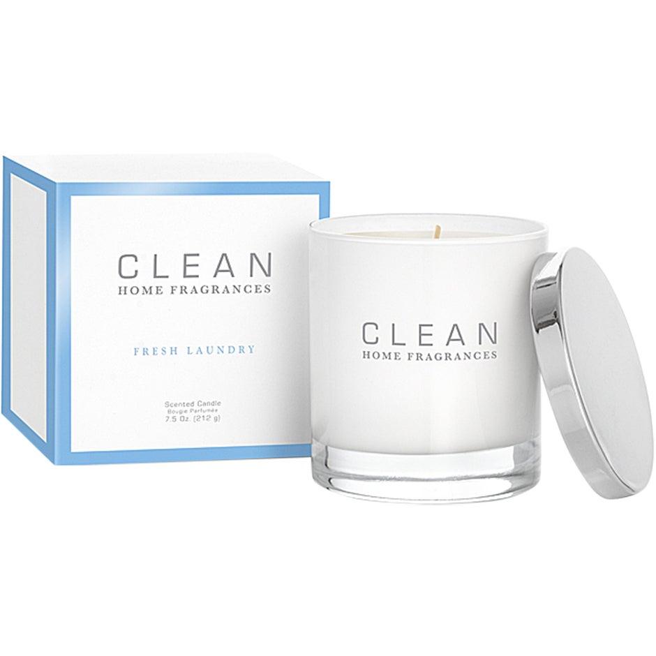 Köp CLEAN Home Fragrances Fresh Laundry Scented Candle, 212g Clean Doftljus fraktfritt thumbnail