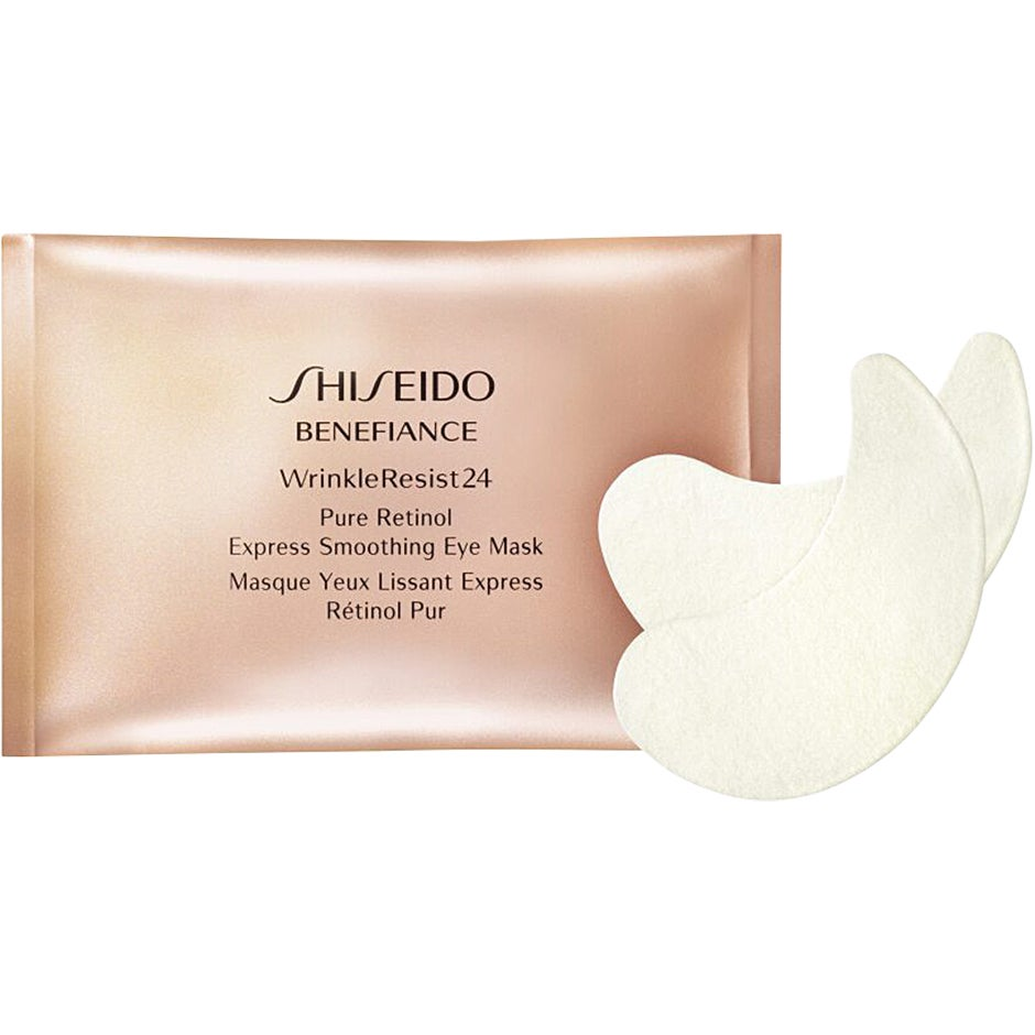 Shiseido Benefiance WrinkleResist 24 Pure Retinol Express Smoothing Eye Mask, Wrinkle Resist 24 Eye Mask 12 Pieces Shiseido Ansiktsmask