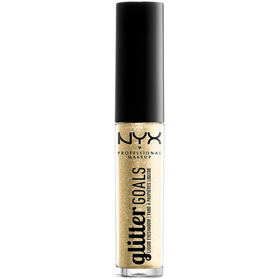Köp Glitter Goals Liquid Eyeshadow, Industrial Beam 3,4 g NYX Professional Makeup Ögonskugga fraktfritt
