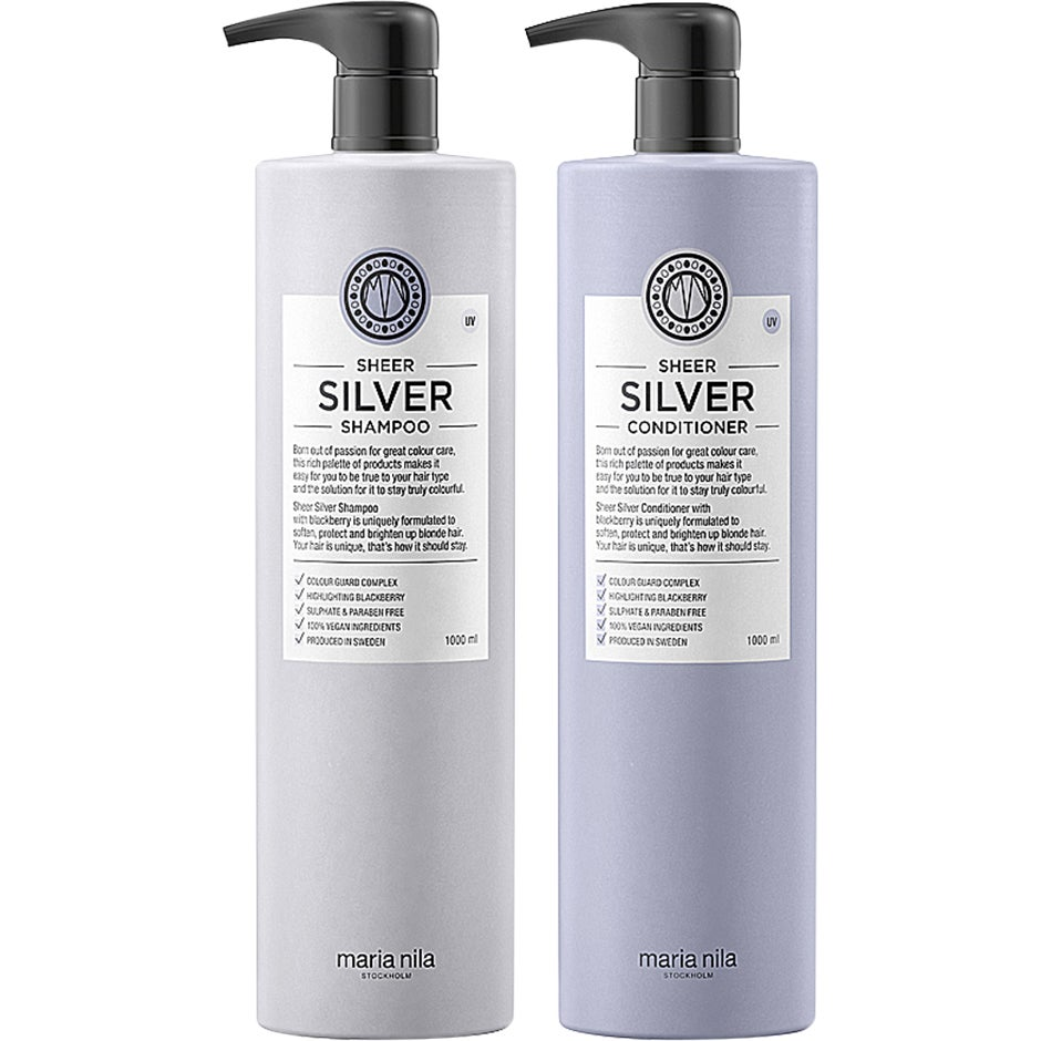 Maria Nila Care Sheer Silver Colour Guard Big Duo,  Maria Nila Hårvård