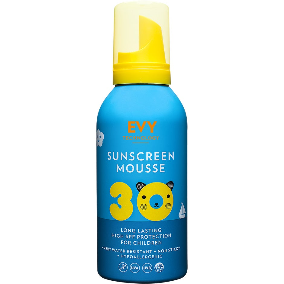 Sunscreen Mousse For Kids SPF30, EVY Technology Solskydd