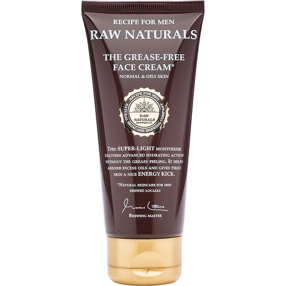 Köp Raw Naturals The Grease-Free Face Cream, 100 ml Raw Naturals by Recipe for Men Dagkräm fraktfritt