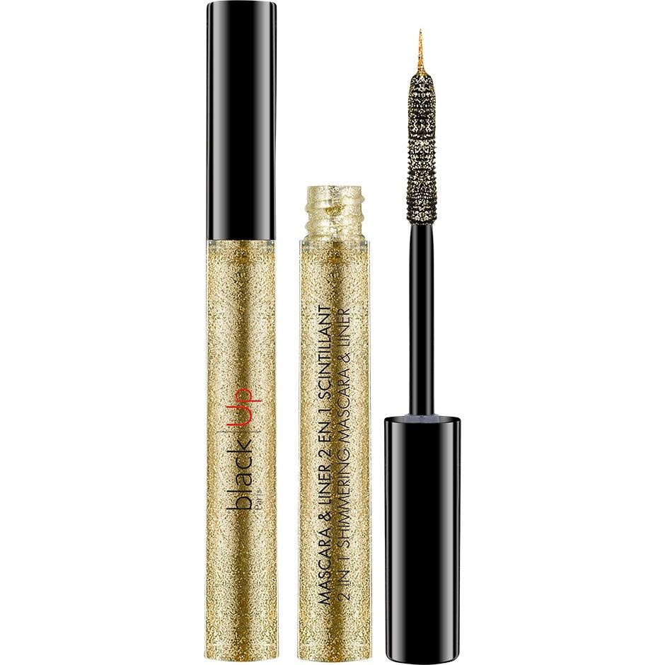 2-in-1 Shimmering Mascara & Liner, 4 ml blackUp Mascara