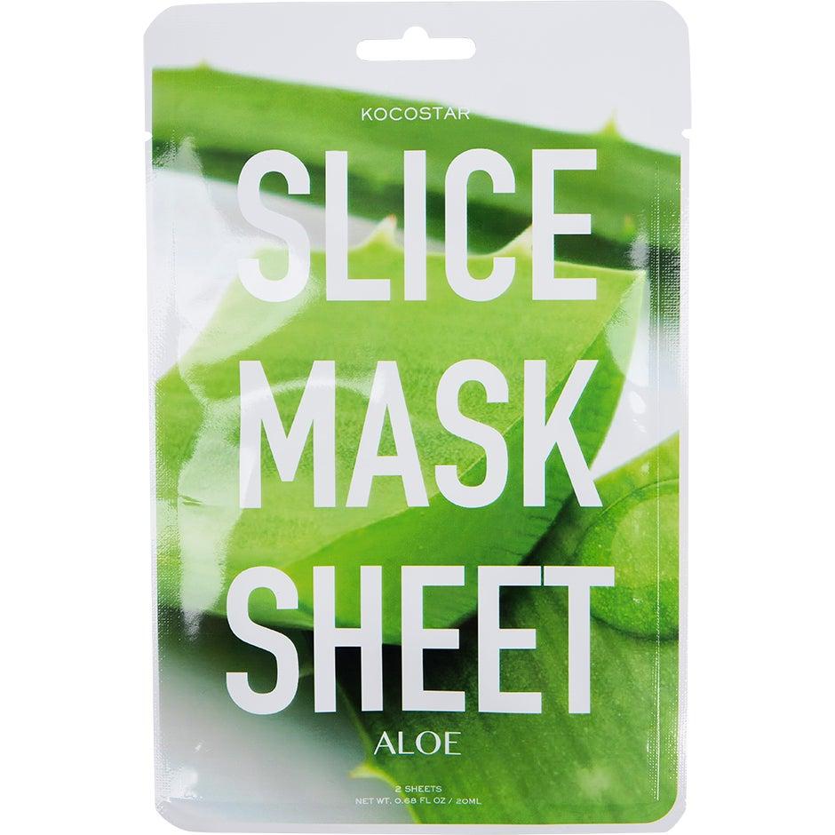 KOCOSTAR Slice Mask Sheet Aloe Vera, Aloe Vera Kocostar Ansiktsmask