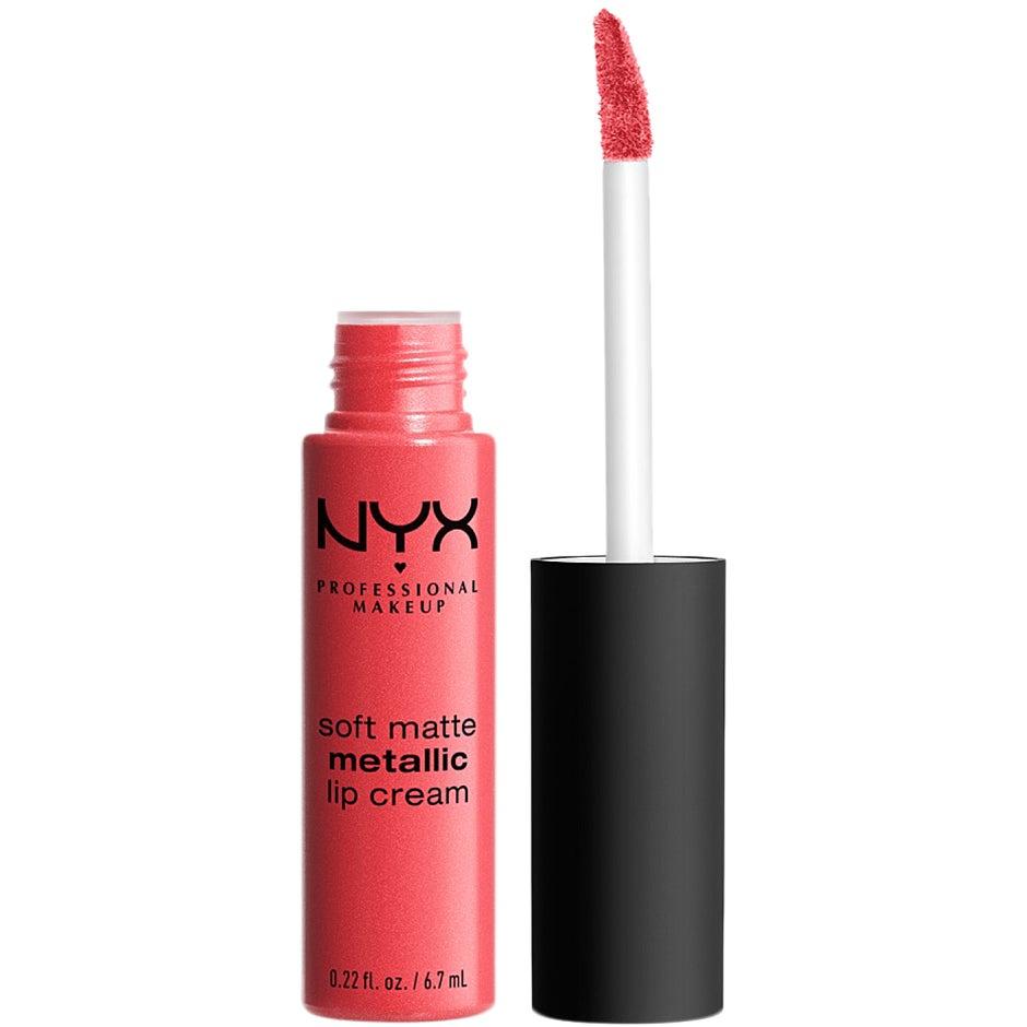 Soft Matte Metallic Lip Cream, Manila 6,7 ml NYX Professional Makeup Läppstift