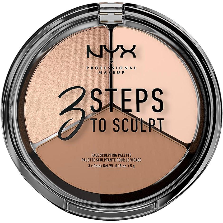 3 Steps To Sculpt,  NYX Professional Makeup Contouring
