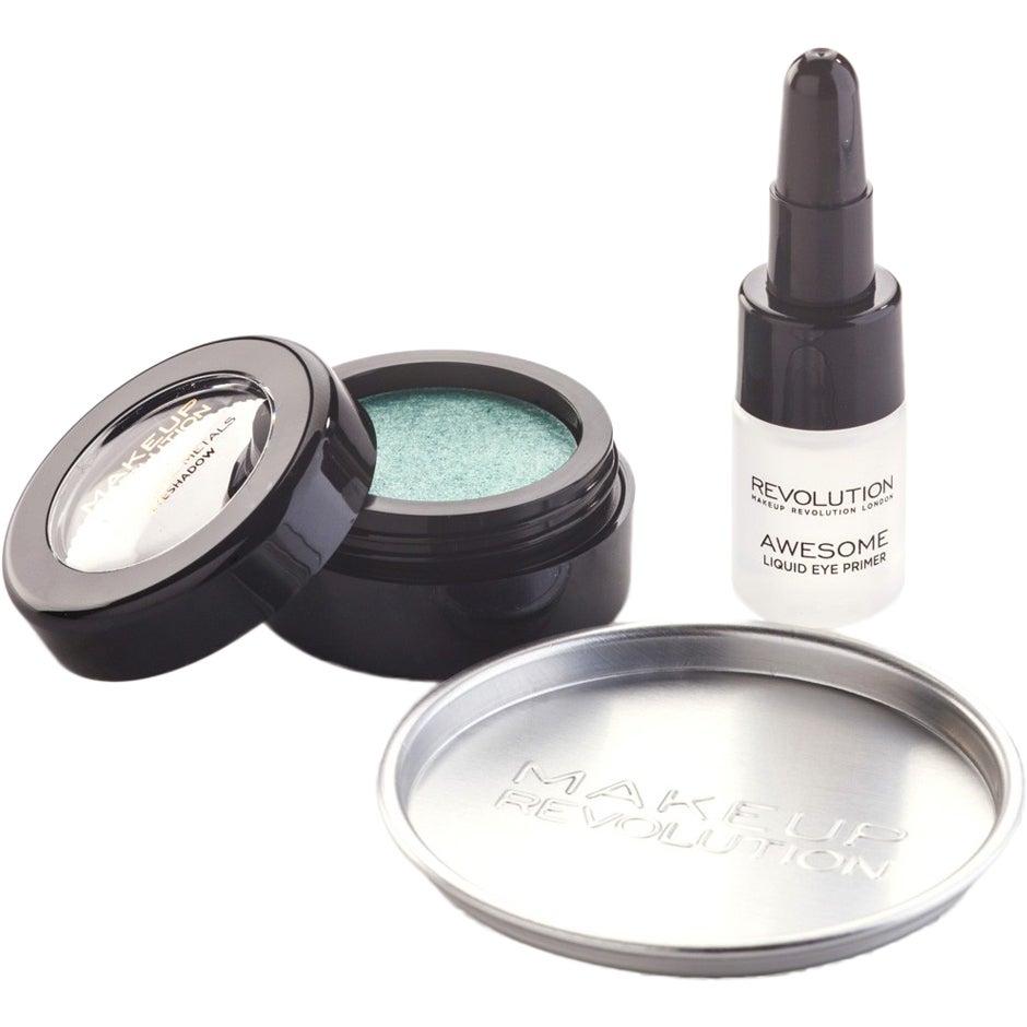 Köp Awesome Metals Eye Foils, Emerald Goddess Makeup Revolution Ögonskugga fraktfritt