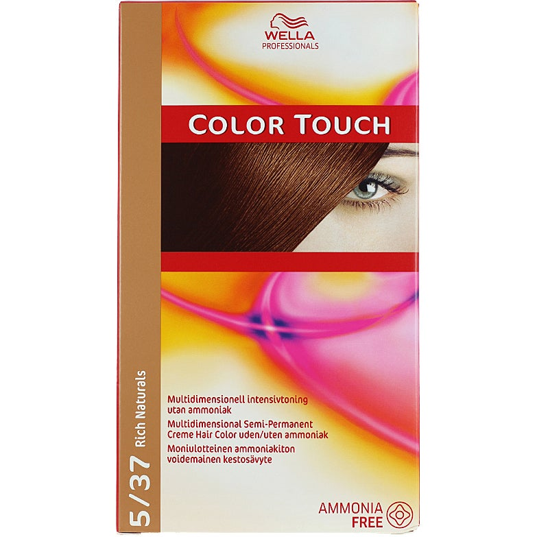 Wella Professionals Care Rich Natural Color Touch 5/37, 5/37 Rich Naturals Golden Brownie Wella Toning