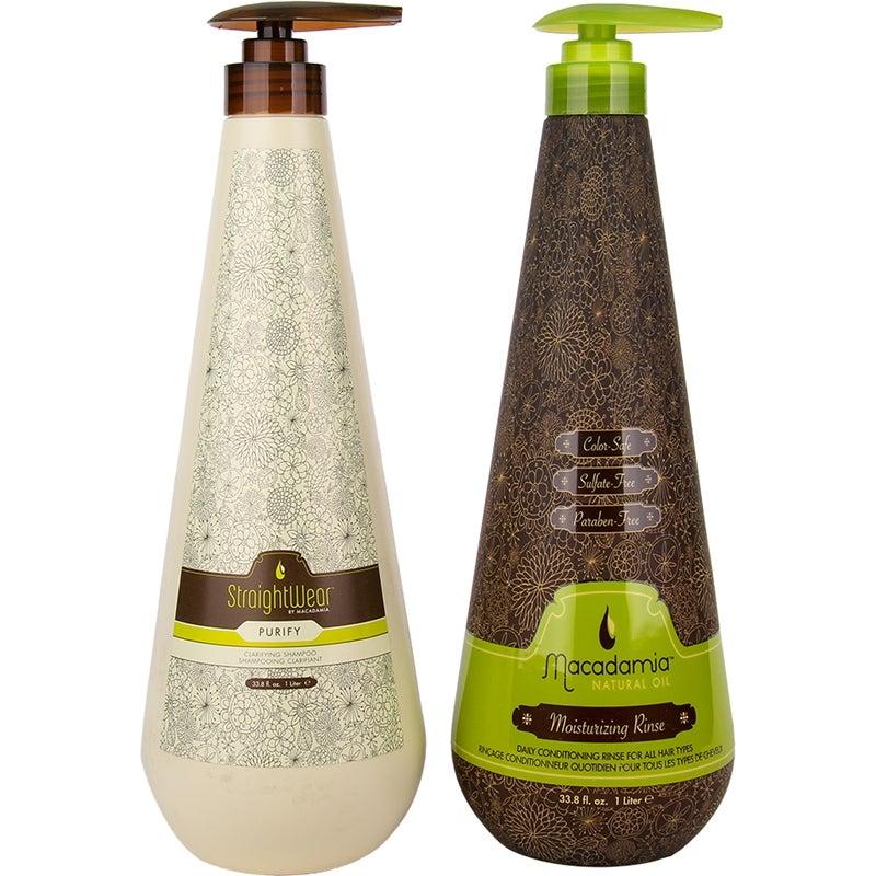 09dd19c941f Macadamia Macadamia Duo StraightWear Purify Shampoo 1000ml, Moisturizing  Rinse 1000ml