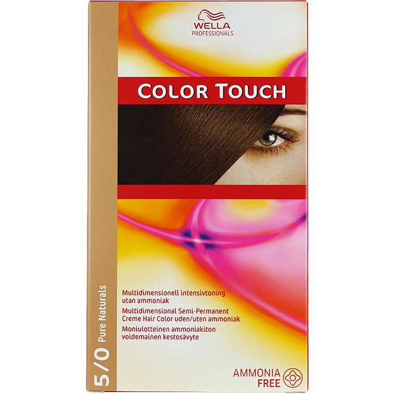 Wella Professionals Care Pure Naturals Color Touch 5/0, 5/0 Pure Naturals Light Brown Wella Toning