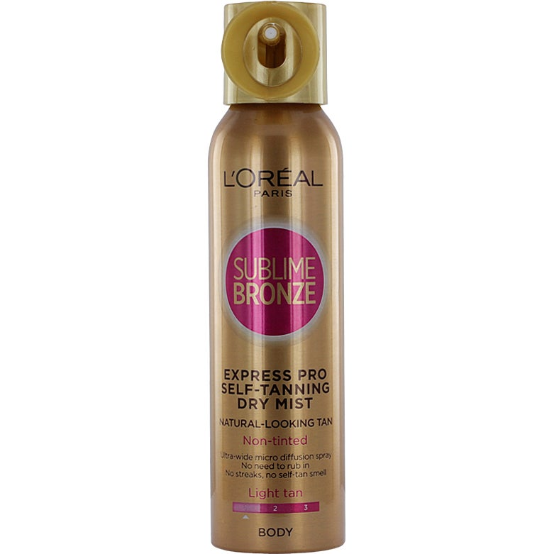 brun utan sol loreal sublime bronze spray