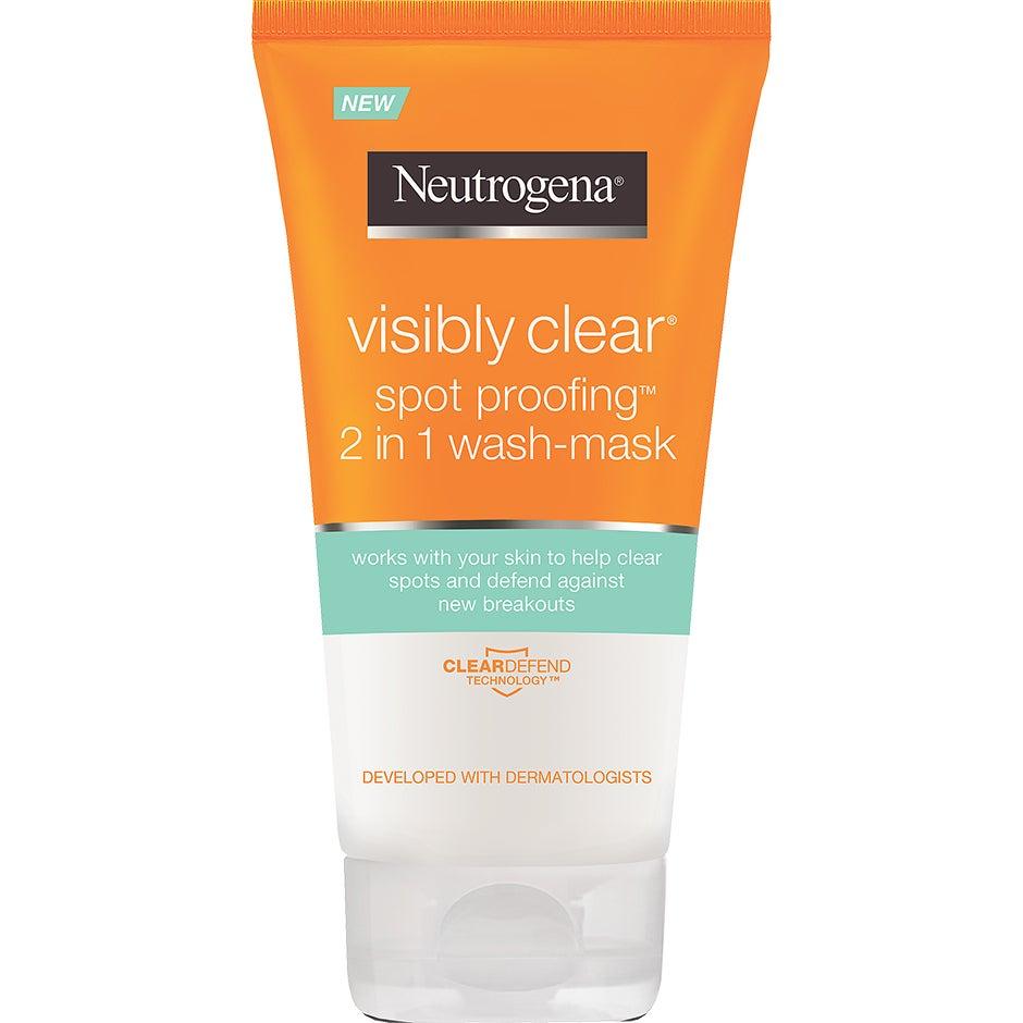 Visibly Clear Spot Proofing, 2-in-1 Wash-Mask 150 ml Neutrogena Ansiktsmask