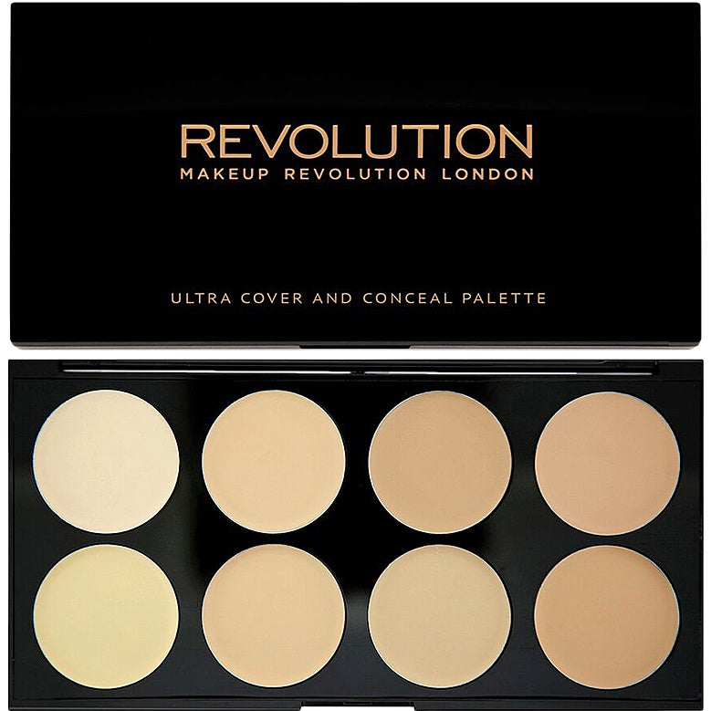 Ultra Cover And Conceal Palette, Makeup Revolution Contouring