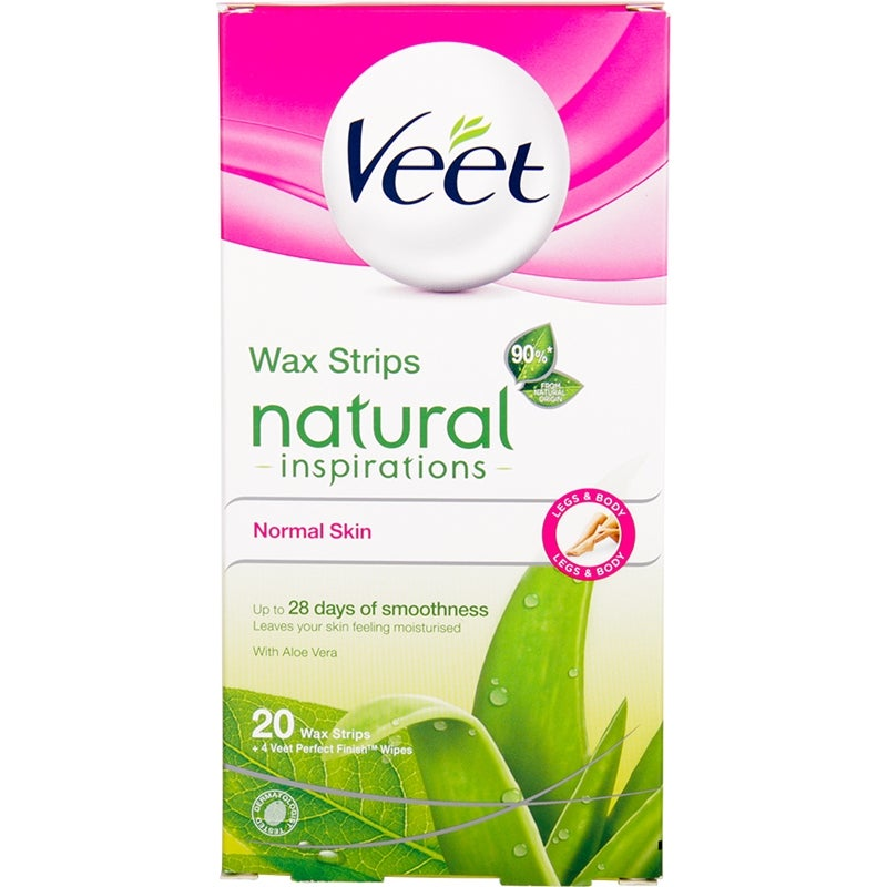 Veet Wax Strips Natural Inspiration