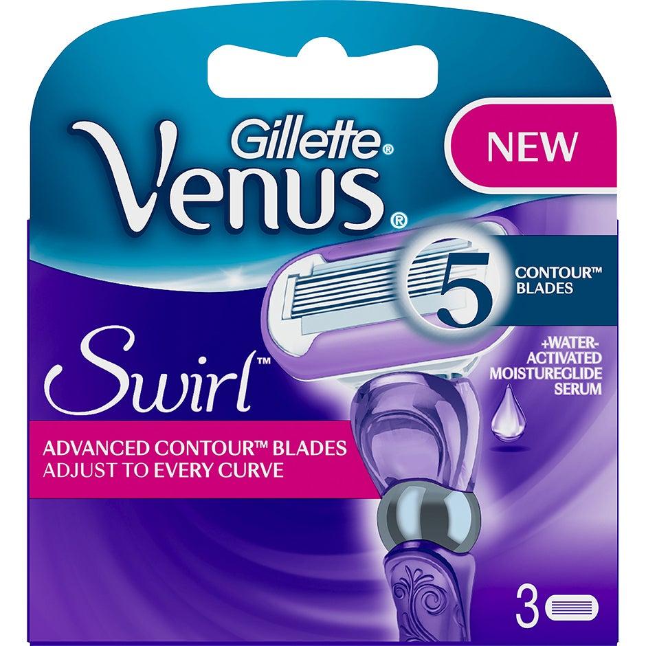 Gillette Venus Swirl 3-Pack, 3-Pack Gillette Rakhyvel & Rakblad