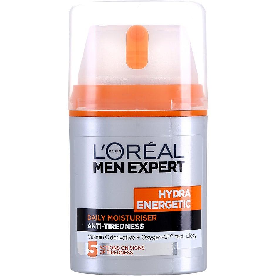 Köp L'Oréal Paris Men Expert Hydra Energetic Moisturising Lotion 24H Anti-Tiredness, Daily Moisturiser 50 ml L'Oréal Paris Dagkräm fraktfritt