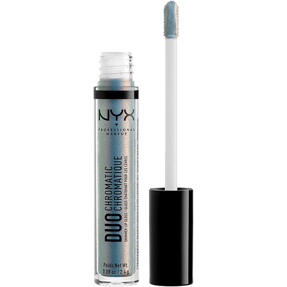 Köp Duo Chromatic Lip Gloss, Day Club 2,4 g NYX Professional Makeup Läppglans fraktfritt