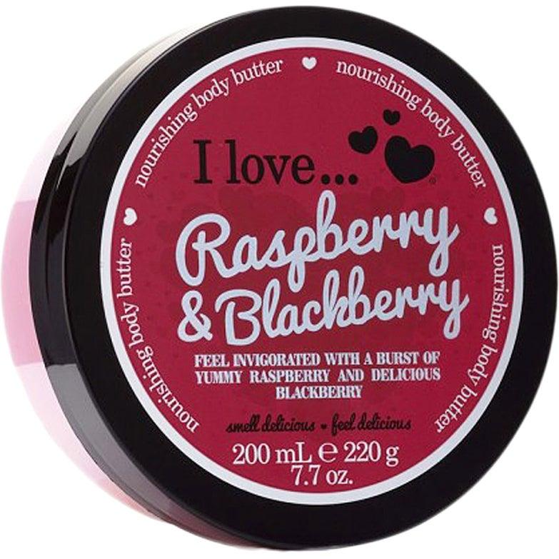 I Love... Raspberry & Blackberry Body Butter, 200 ml I love… Kroppslotion
